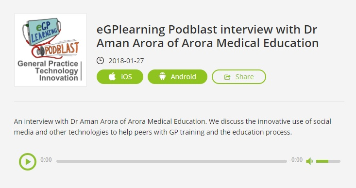 podcast egplearning - MRCGP CSA, AKT and PLAB Exam Courses and Online Webinars - Arora Medical Education