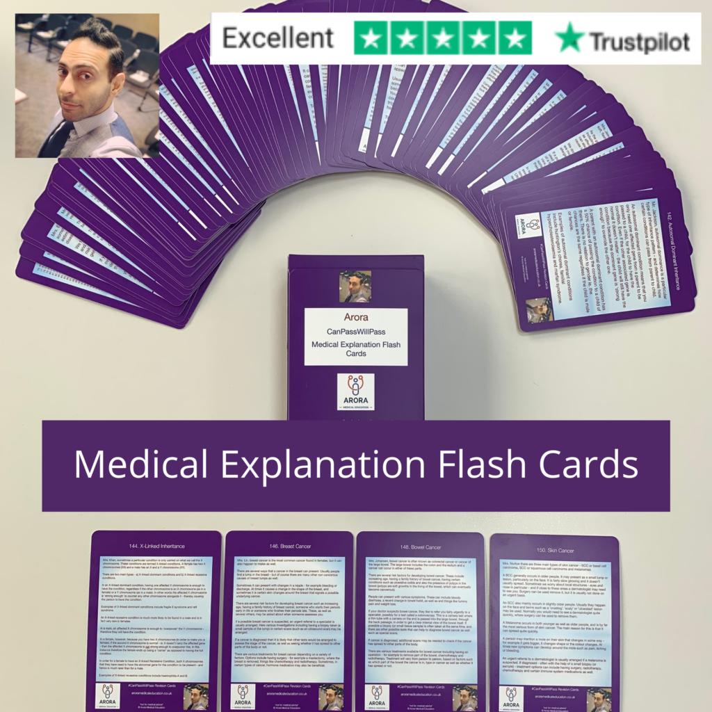 Medical Explanation Flash Cards 2 - MRCGP CSA, AKT and PLAB Exam Courses and Online Webinars - Arora Medical Education