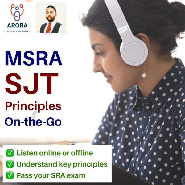 MSRA SJT Audiobook - MRCGP CSA, AKT and PLAB Exam Courses and Online Webinars - Arora Medical Education