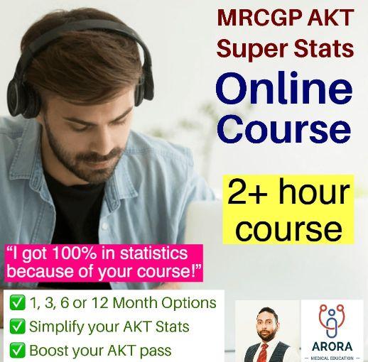 AKT Stats Single - MRCGP CSA, AKT and PLAB Exam Courses and Online Webinars - Arora Medical Education