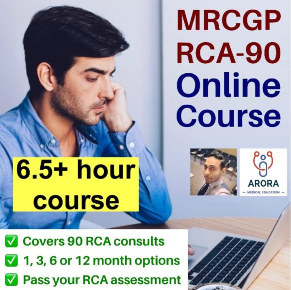RCA90 Single - MRCGP CSA, AKT and PLAB Exam Courses and Online Webinars - Arora Medical Education