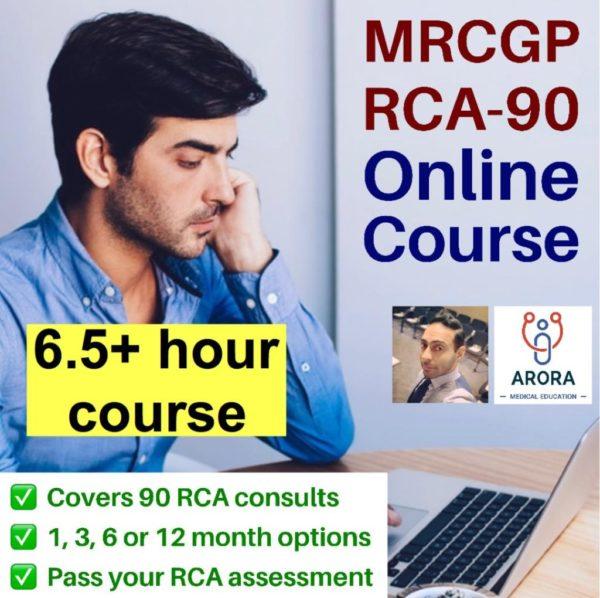 RCA90 Single - MRCGP CSA, AKT and PLAB Exam Courses and Online Webinars - Arora Medical Education