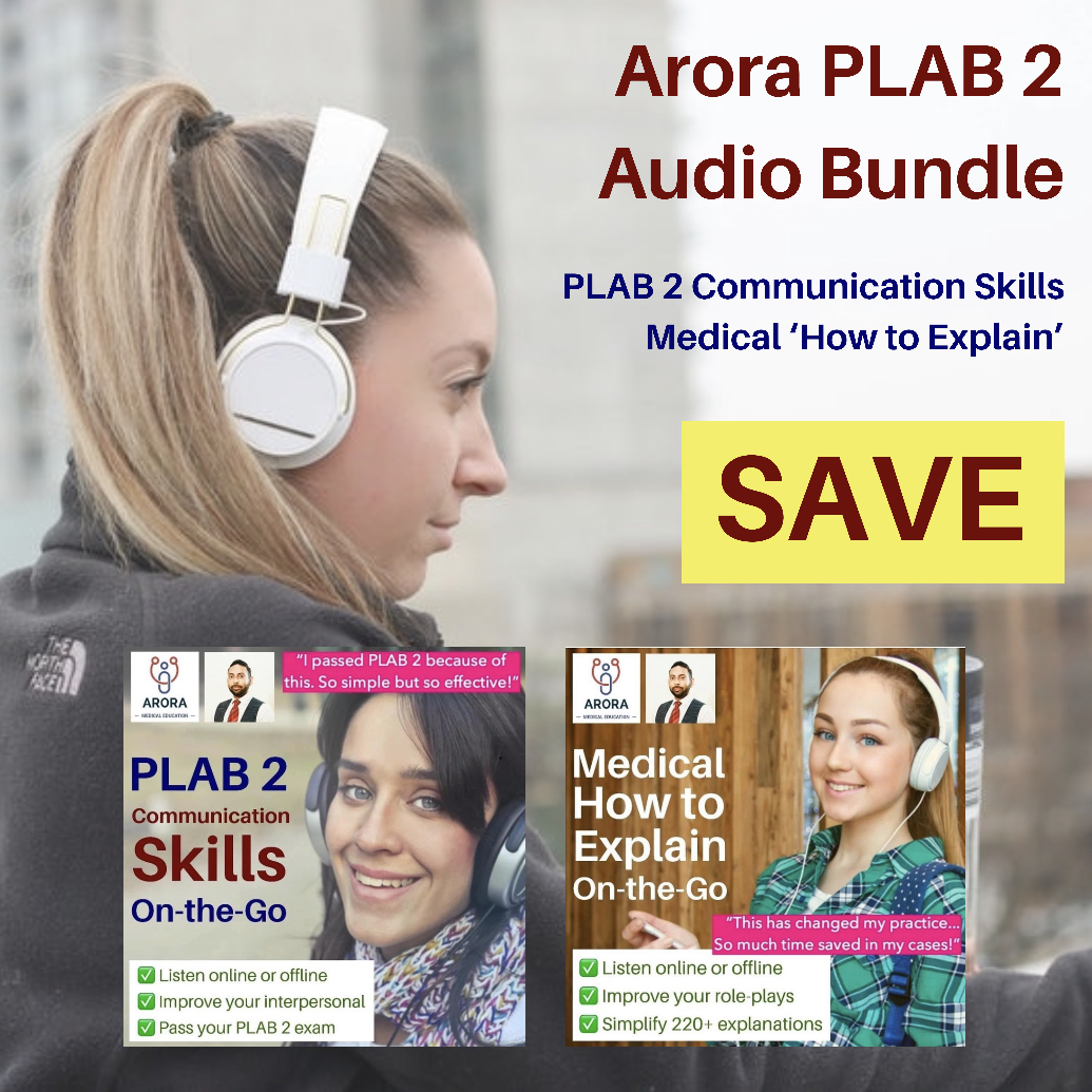 plab2 audio bundle new - MRCGP CSA, AKT and PLAB Exam Courses and Online Webinars - Arora Medical Education