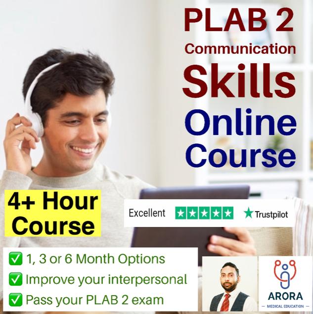 Plab2 online e1621788629871 - MRCGP CSA, AKT and PLAB Exam Courses and Online Webinars - Arora Medical Education