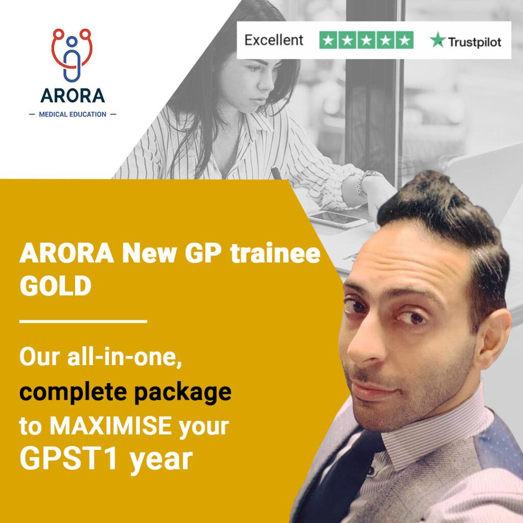 1621953226 gold NewGPtrainee - MRCGP CSA, AKT and PLAB Exam Courses and Online Webinars - Arora Medical Education