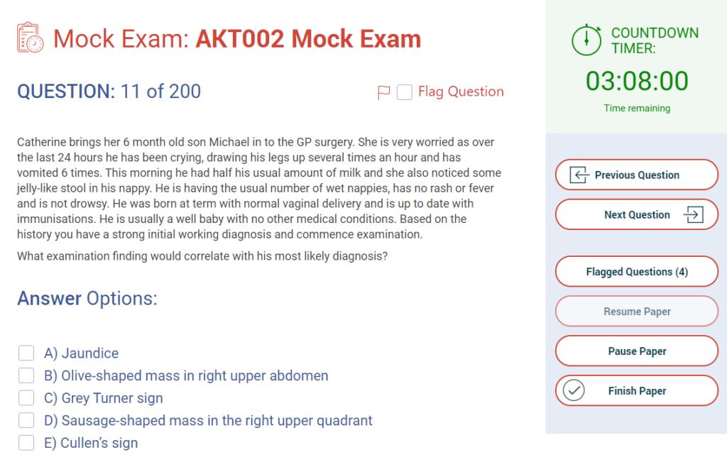 AKT Question - MRCGP CSA, AKT and PLAB Exam Courses and Online Webinars - Arora Medical Education