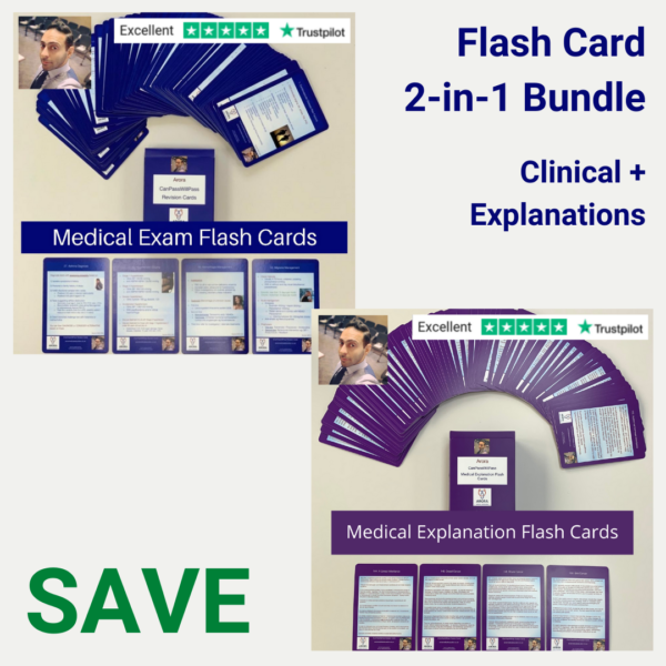 Flash card Bundle - MRCGP CSA, AKT and PLAB Exam Courses and Online Webinars - Arora Medical Education