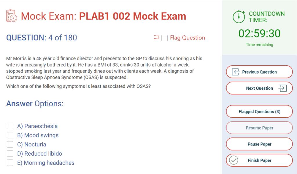 PLAB 1 question - MRCGP CSA, AKT and PLAB Exam Courses and Online Webinars - Arora Medical Education