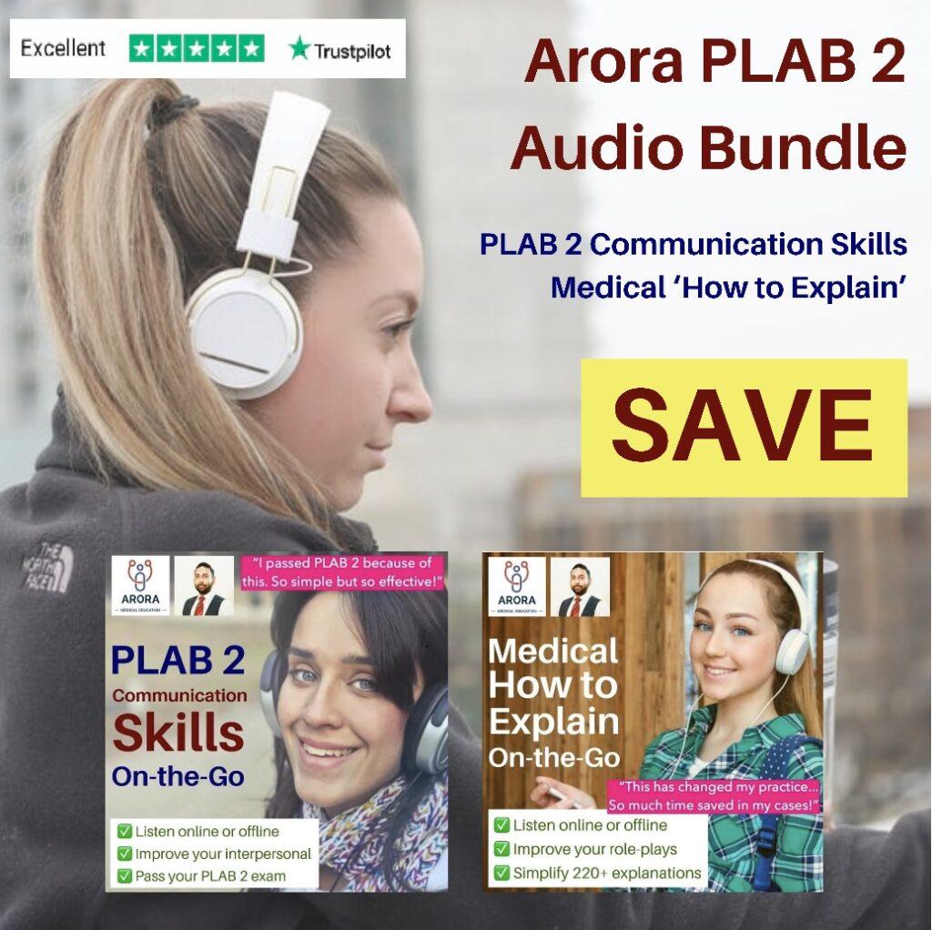 PLAB Audio Bundle - MRCGP CSA, AKT and PLAB Exam Courses and Online Webinars - Arora Medical Education
