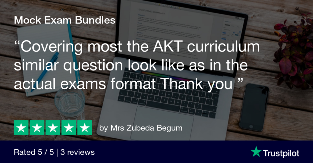 Trustpilot Product Review Mrs Zubeda Begum - MRCGP CSA, AKT and PLAB Exam Courses and Online Webinars - Arora Medical Education