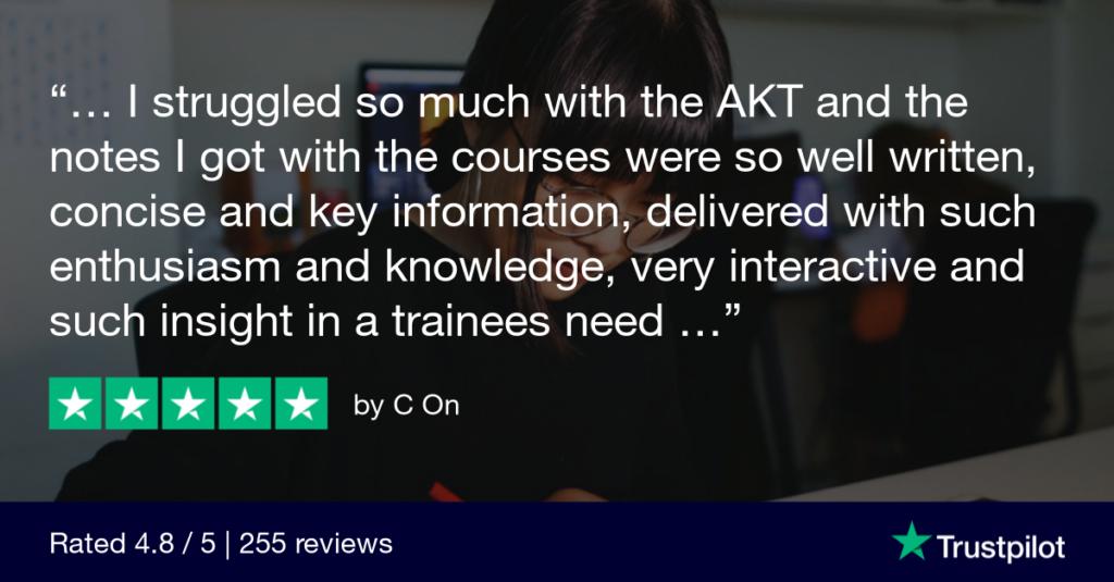 Trustpilot Review C On 3 - MRCGP CSA, AKT and PLAB Exam Courses and Online Webinars - Arora Medical Education