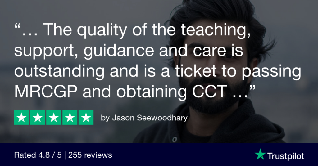 Trustpilot Review Jason Seewoodhary - MRCGP CSA, AKT and PLAB Exam Courses and Online Webinars - Arora Medical Education