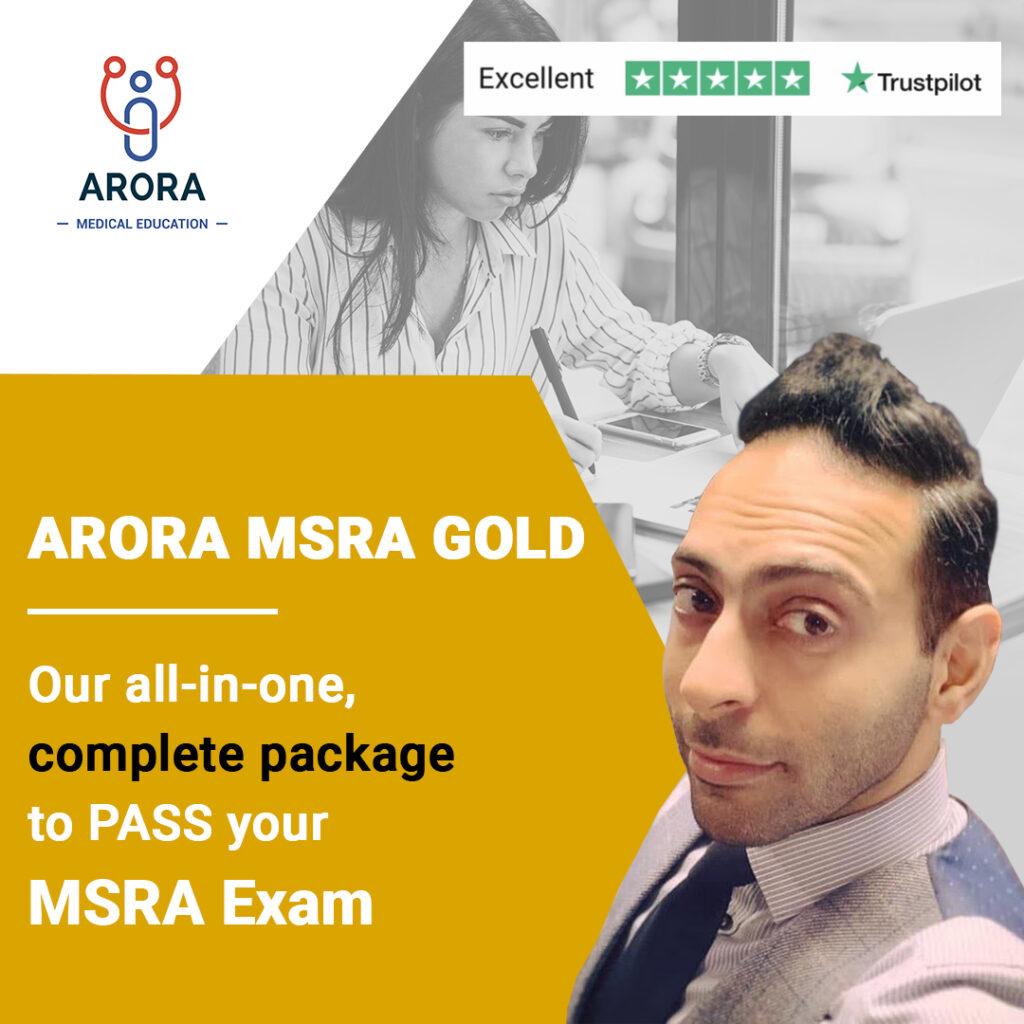 gold MSRA - MRCGP CSA, AKT and PLAB Exam Courses and Online Webinars - Arora Medical Education