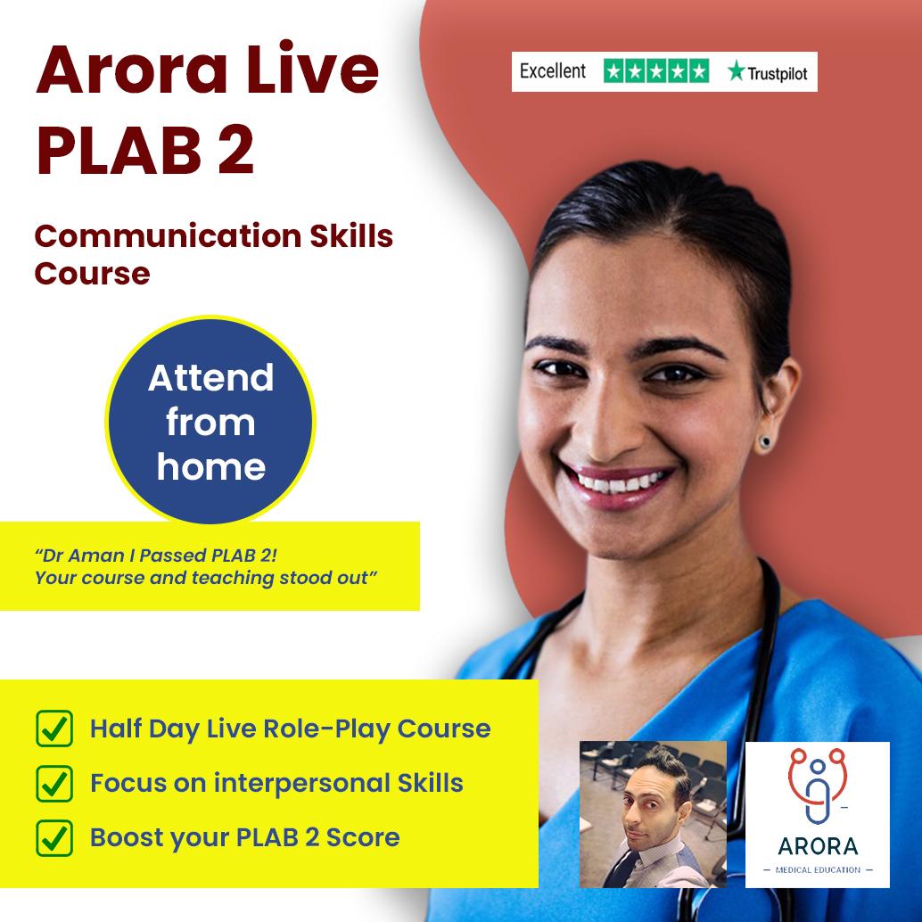 plab2 comm 1 - MRCGP CSA, AKT and PLAB Exam Courses and Online Webinars - Arora Medical Education