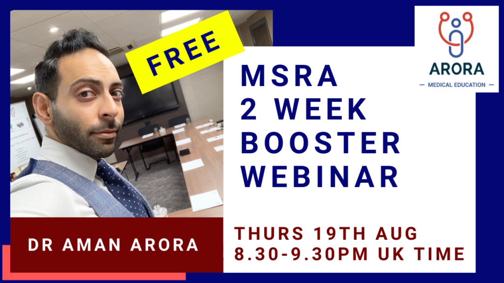 MSRA BOOSTER WEBINAR - MRCGP CSA, AKT and PLAB Exam Courses and Online Webinars - Arora Medical Education