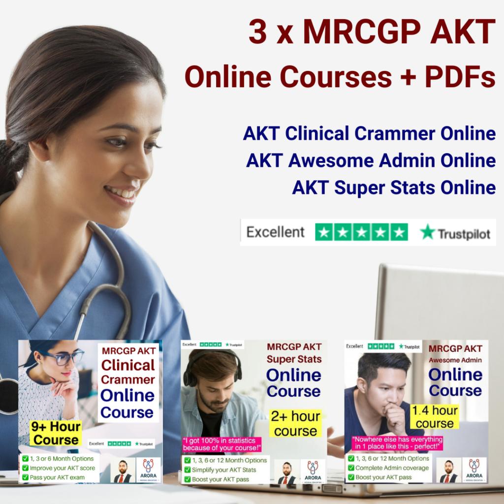 3xakt - MRCGP CSA, AKT and PLAB Exam Courses and Online Webinars - Arora Medical Education