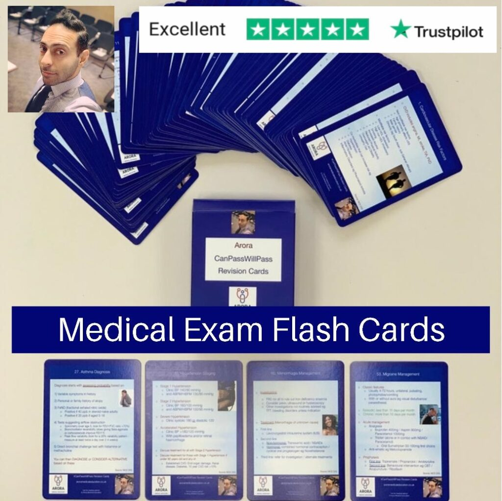 Flash Card - MRCGP CSA, AKT and PLAB Exam Courses and Online Webinars - Arora Medical Education