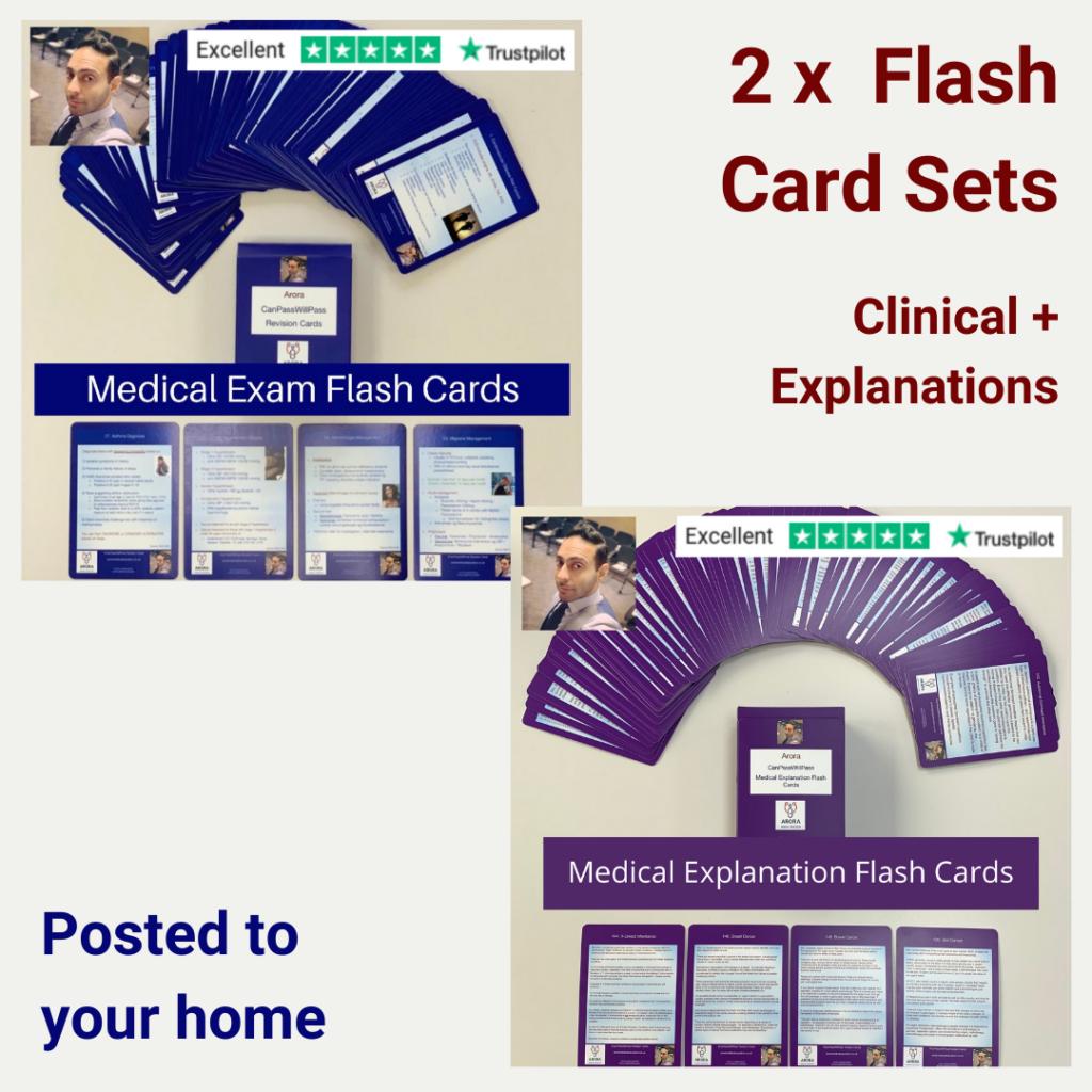 Flash card Bundle 1 - MRCGP CSA, AKT and PLAB Exam Courses and Online Webinars - Arora Medical Education
