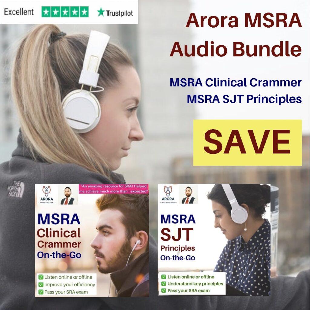 MSRA Audio Bundle 1024x1022 2 - MRCGP CSA, AKT and PLAB Exam Courses and Online Webinars - Arora Medical Education