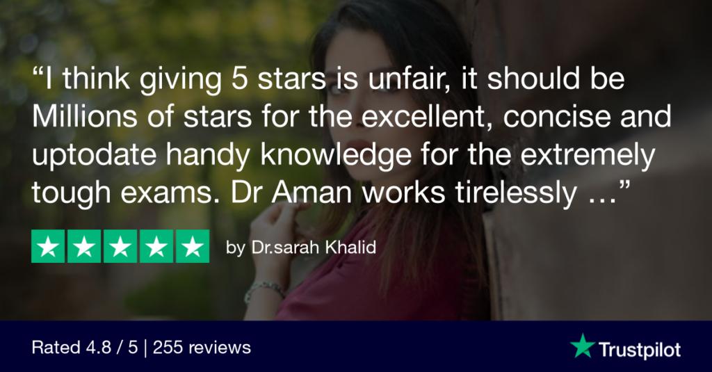 Trustpilot Review Dr.sarah Khalid 2 - MRCGP CSA, AKT and PLAB Exam Courses and Online Webinars - Arora Medical Education