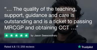 Trustpilot Review Jason Seewoodhary 1024x535 1 - MRCGP CSA, AKT and PLAB Exam Courses and Online Webinars - Arora Medical Education