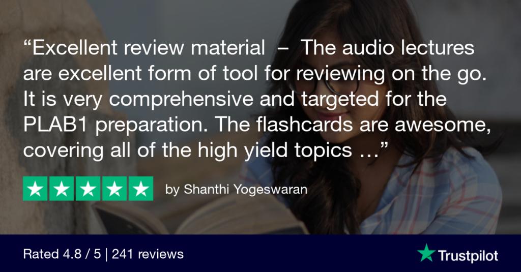 Trustpilot Review Shanthi Yogeswaran 1024x535 1 - MRCGP CSA, AKT and PLAB Exam Courses and Online Webinars - Arora Medical Education
