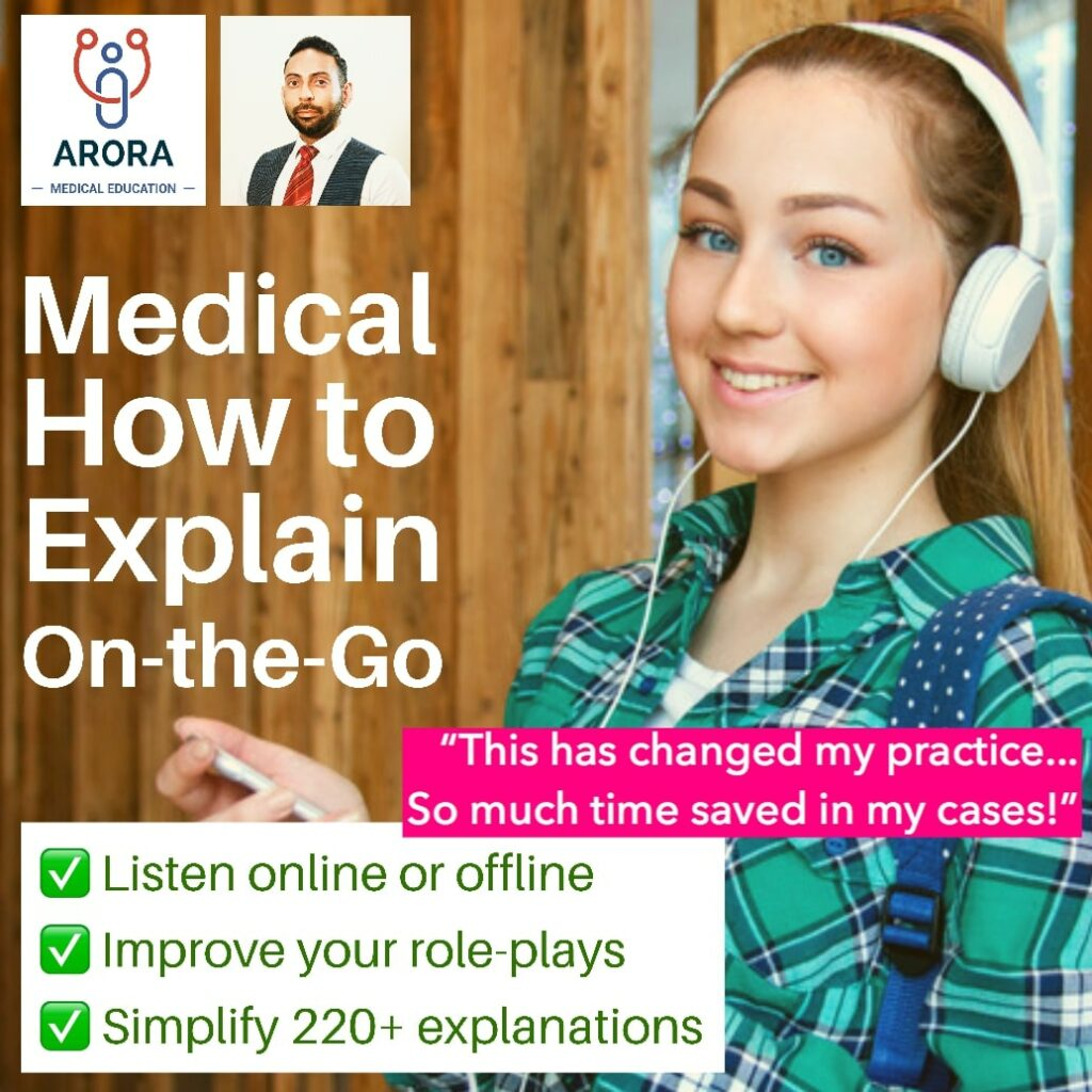 medical how to explain on the go 1 1 - MRCGP CSA, AKT and PLAB Exam Courses and Online Webinars - Arora Medical Education